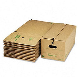 Fellowes Recycled Medium-Duty Stor/File Storage Boxes (Pack of 12)