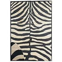 Hand-woven Zebra Rayon from Bamboo Rug (5' x 8') - 5' x 8'