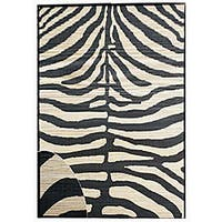 Zebra Rayon from Bamboo Rug - 6' x 9'