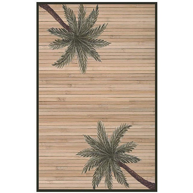 Hand Woven Palm Tree Rayon From Bamboo Rug (5u0027 ...