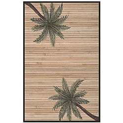 Hand-woven Palm Tree Rayon from Bamboo Rug (5' x 8')