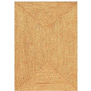 Hand-woven Braided Jute Rug (5' x 8')