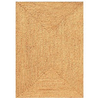 Acura Homes Handmade Braided Beige Jute Rug - 6' x 9'