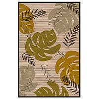 Hand-woven Leaf Rayon from Bamboo Rug - 5' x 8'