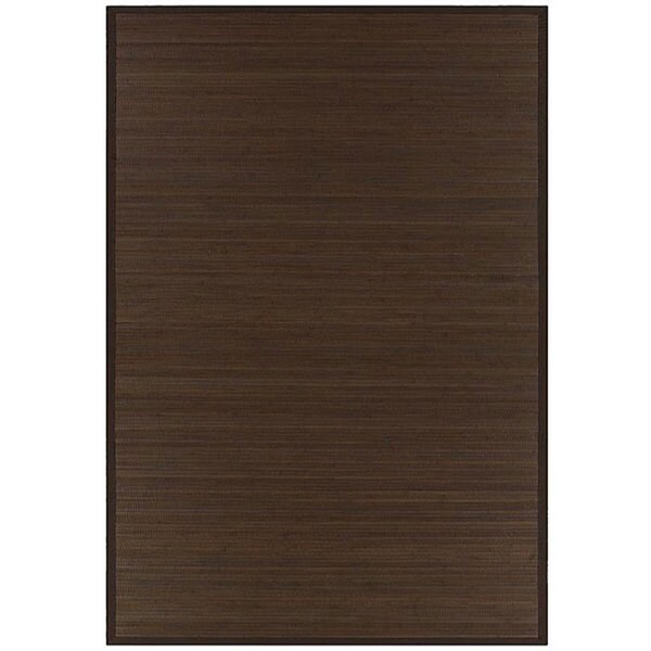 Hand-woven Brown Rayon from Bamboo Rug (5' x 8')