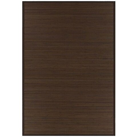Hand-woven Brown Rayon from Bamboo Rug (5' x 8') - 5' x 8'