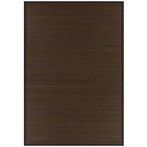 Hand-woven Brown Rayon from Bamboo Rug (6' x 9') - 6' x 9'