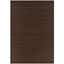 Hand-woven Brown Rayon from Bamboo Rug (6' x 9') - Thumbnail 0