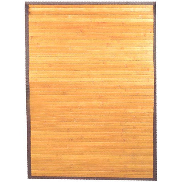 Hand-woven Light Yellow Rayon from Bamboo Rug (5' x 8') - 5' x 8'