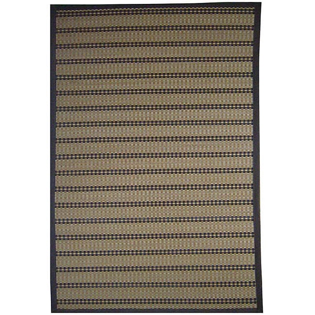 Hand-woven Beige Rayon from Bamboo Rug (5' x 8')