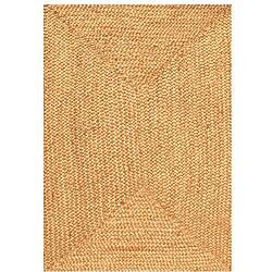 Hand-woven Braided Jute Rug (8' x 10' 6) - Thumbnail 0