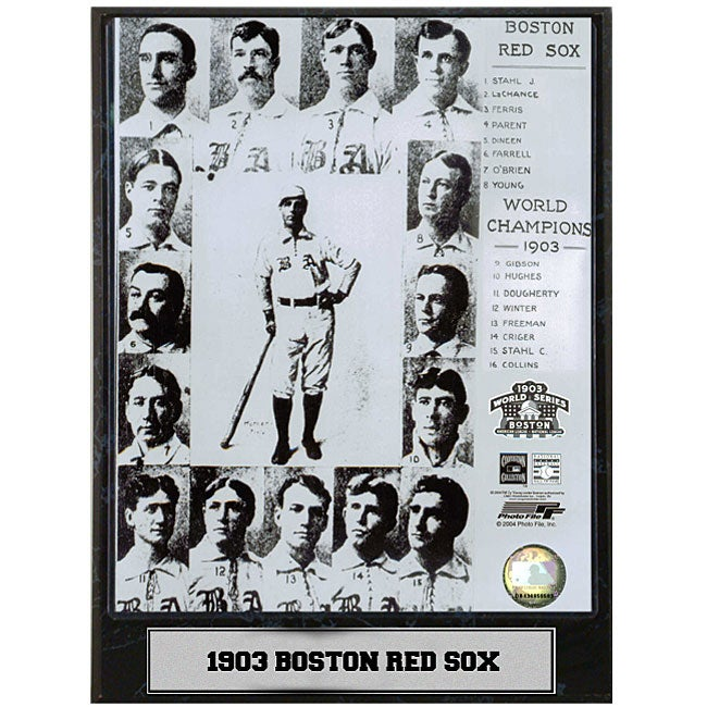 Boston Red Sox 1903 9x12 Baseball Photo Plaque