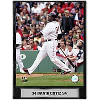 David Ortiz 9x12 Baseball Photo Plaque