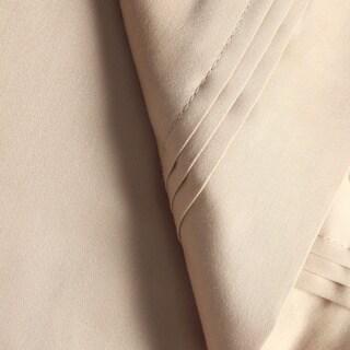 Superior Egyptian Cotton 650 Thread Count Deep Pocket Solid Sheet Set (Beige - 4 Piece - California King)