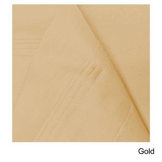 Superior Egyptian Cotton 650 Thread Count Deep Pocket Solid Sheet Set (Gold - 4 Piece - Queen)