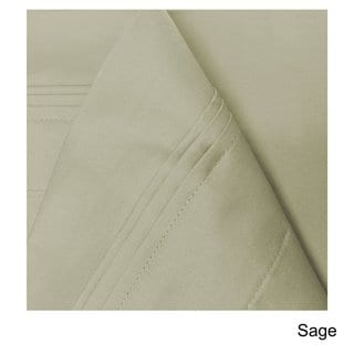 Superior Egyptian Cotton 650 Thread Count Deep Pocket Solid Sheet Set (Sage - 4 Piece - Queen)