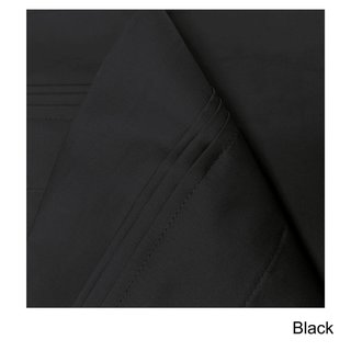 Superior Egyptian Cotton 650 Thread Count Deep Pocket Solid Sheet Set (Black - 4 Piece - King)