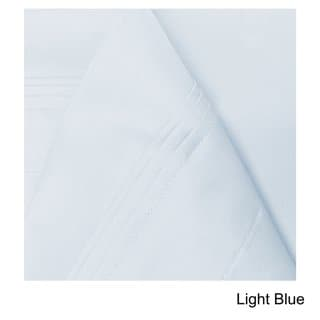 Superior Egyptian Cotton 650 Thread Count Deep Pocket Solid Sheet Set (Light Blue - 4 Piece - California King)