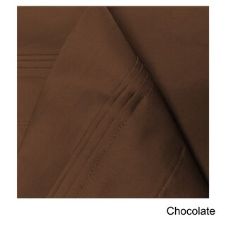 Superior Egyptian Cotton 650 Thread Count Deep Pocket Solid Sheet Set (3 options available)