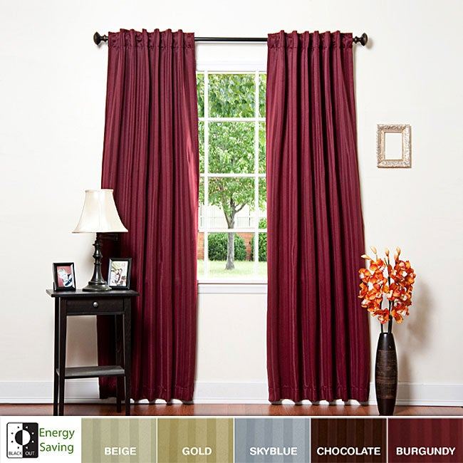 Hotel stripe 63 inch insulated blackout curtains free for Hotel drapes for sale