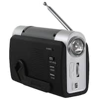 Buffalo Hand Crank Emergency LED Light FM Radio