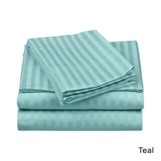 Superior Egyptian Cotton 650 Thread Count Stripe Deep Pocket Sheet Set