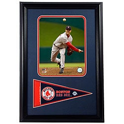 Boston Red Sox Jonathan Paperlbon 12x18 Framed Print with Pennant