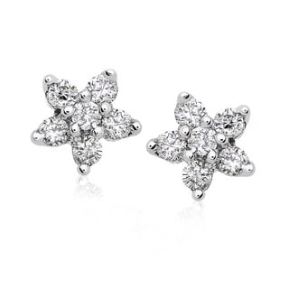 Annello by Kobelli 14k Gold 1/5ct TDW Diamond Star Earrings