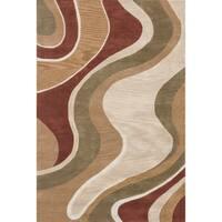 Hand-tufted Ackworth Beige/ Rust Rug (7'10 x 11' 0 - 7'10 x 11'