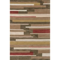 Hand-tufted Ackworth Olive/ Gold Area Rug (5'x 7'6) - 5'x 7'6