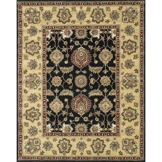 Hand-tufted Mason Black Area Wool Rug (5' x 7'6)