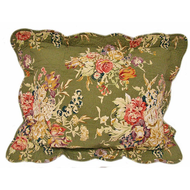 Colette Quilted Floral Pillows (Set of 2)