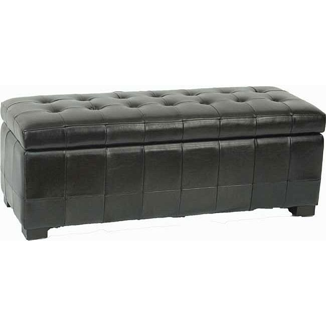 Safavieh Large Black Manhattan Storage Bench