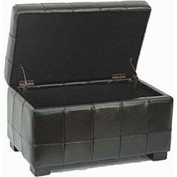 Safavieh Small Black Manhattan Storage Bench - Thumbnail 1