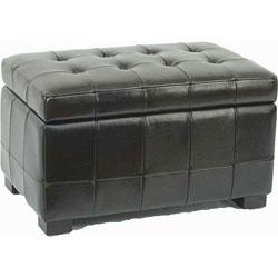 Safavieh Small Black Manhattan Storage Bench