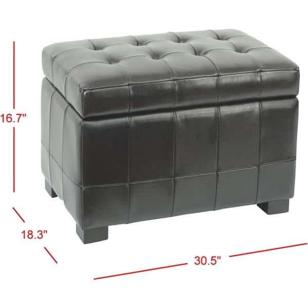 Excellent Shop Safavieh Small Black Manhattan Storage Bench On Sale Ibusinesslaw Wood Chair Design Ideas Ibusinesslaworg