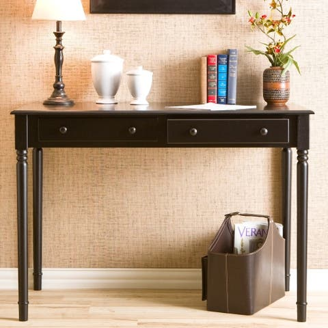 Waterfront Black 2-drawer Desk