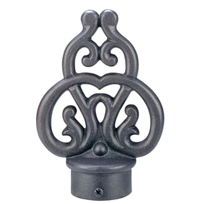 Shop Rustic 8 Foot Iron Drape Rod With Scroll Finial