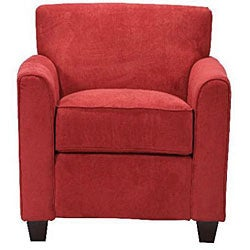Cool Handy Living Park Avenue Crimson Red Hand Tied Chair And Ottoman Ibusinesslaw Wood Chair Design Ideas Ibusinesslaworg