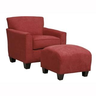 Shop Handy Living Fairfax Blue Microfiber Arm Chair And