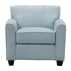 Fantastic Handy Living Park Avenue Sky Blue Hand Tied Accent Chair And Ottoman Ibusinesslaw Wood Chair Design Ideas Ibusinesslaworg