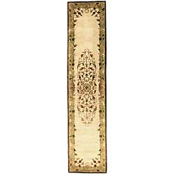Safavieh Handmade Heritage Timeless Traditional Beige Wool Runner (2'3 x 14')
