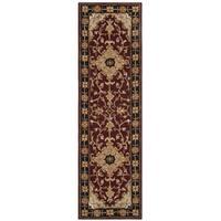 "Safavieh Handmade Heritage Traditional Tabriz Red/ Black Wool Runner Rug - 2'3"" x 14'"