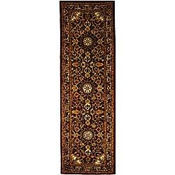 Safavieh Handmade Classic Kerman Burgundy/ Navy Wool Runner (2'3 x 14')