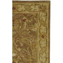 Safavieh Handmade Antiquities Treasure Brown/ Gold Wool Runner (2'3 x 14') - Thumbnail 1