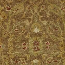 Safavieh Handmade Antiquities Treasure Brown/ Gold Wool Runner (2'3 x 14') - Thumbnail 2