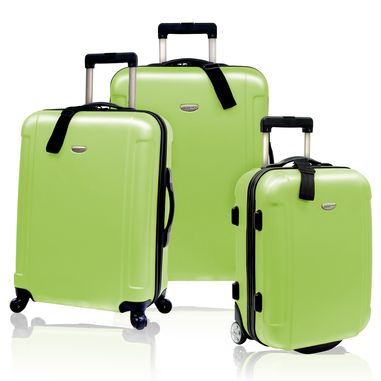 Traveler's Choice Freedom 3-piece Hardside Spinner Luggage Set (Apple Green)