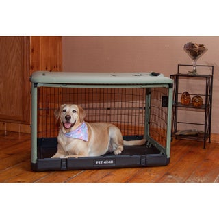PetGear Colored Steel Crate with Bolster Pad