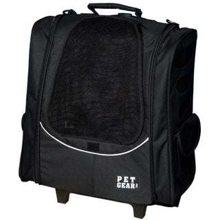 Pet Gear I-GO2 Escort Pet Backpack and Carrier with Wheels (Option: Black)