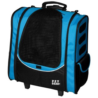 Pet Gear I-GO2 Escort Pet Backpack and Carrier with Wheels (Option: Blue)
